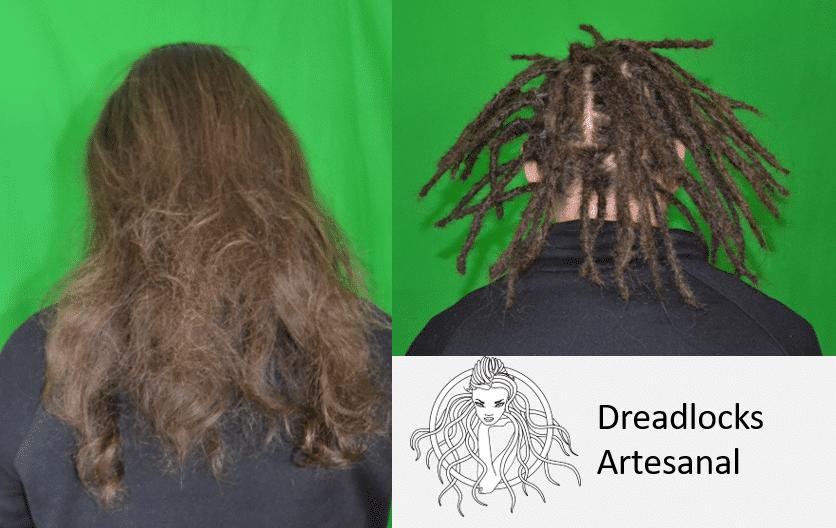 Haare werden beim Dreaden einen Drittel bis zur Hälfte kürzer.
