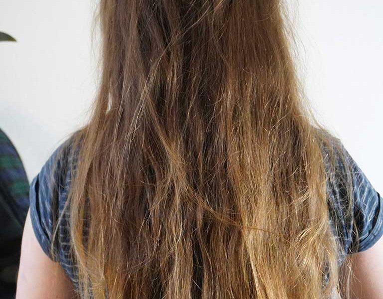 Lange Haare vor dem Dreadlocks erstellen